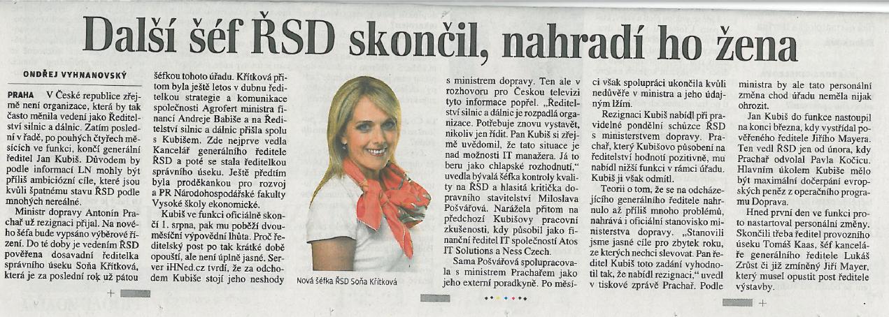 Lidové noviny, 30.7.2014